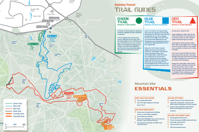 Swinley Forest Map Swinley Forest trails | MTB | GPS Routes Hub Swinley Forest Map