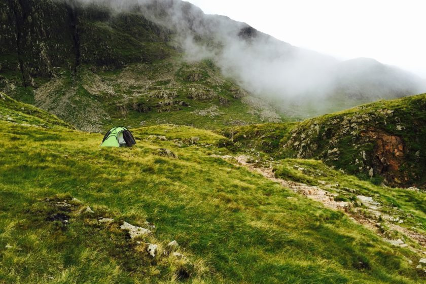 Camping by Sprinkling Tarn