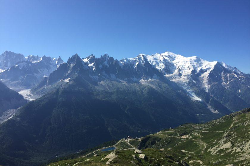 Mont Blanc from above La Flégère