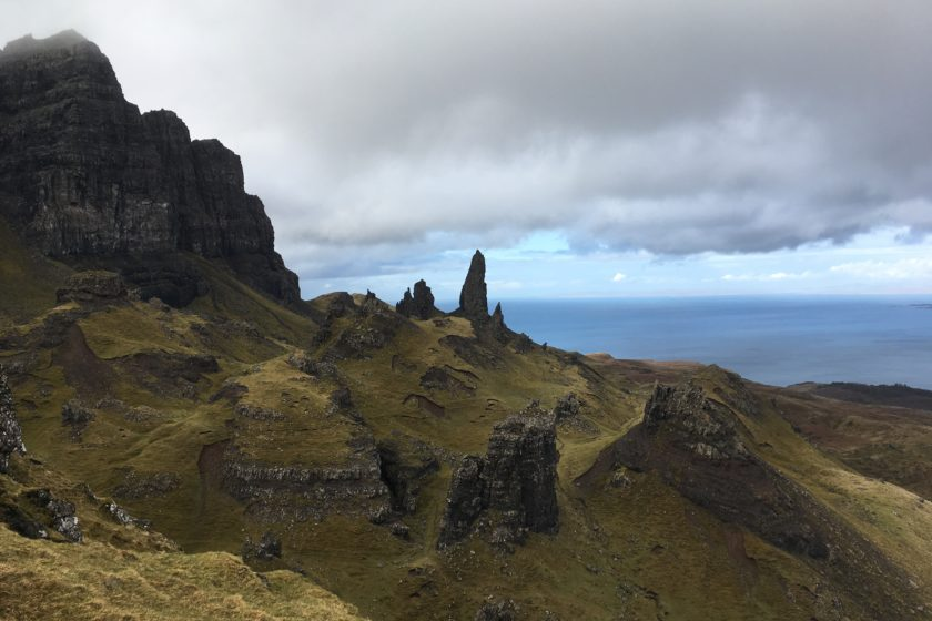 Old Man of Storr in the distance