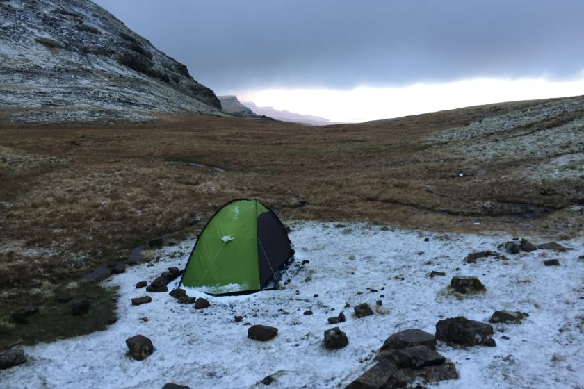 Camping spot by the Storr