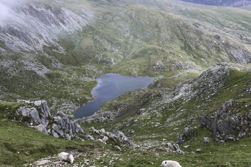 Ffynnon Lloer from above