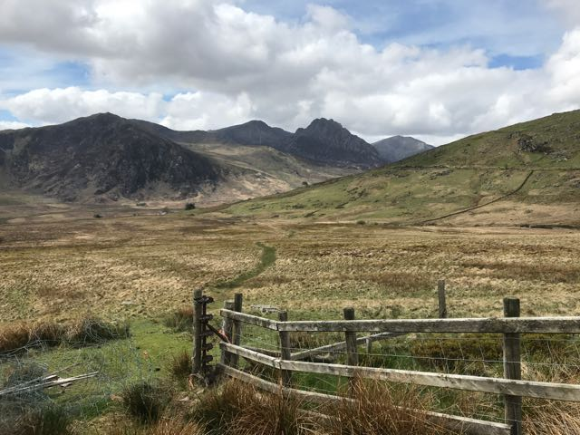 Carneddau with Tryfan in the background
