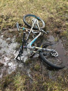 Muddy mtb path in Snowdonia