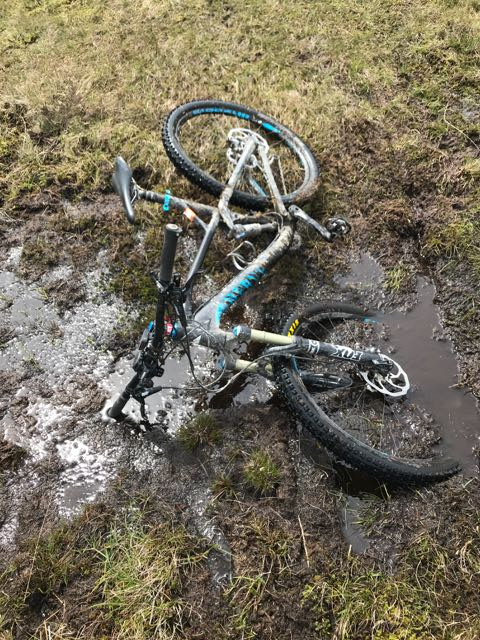 Muddy mtb path in Snowdonia