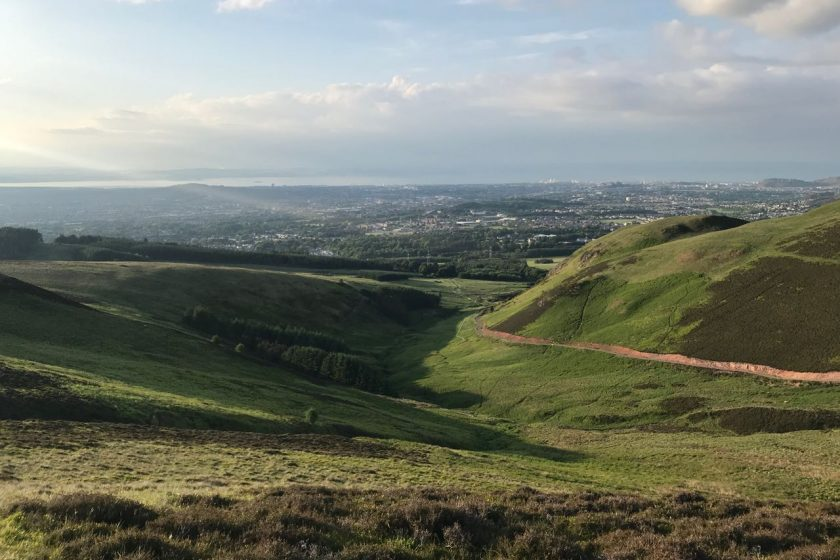 Edinburgh from Pentland Hills