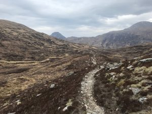 track towards lairig leacach