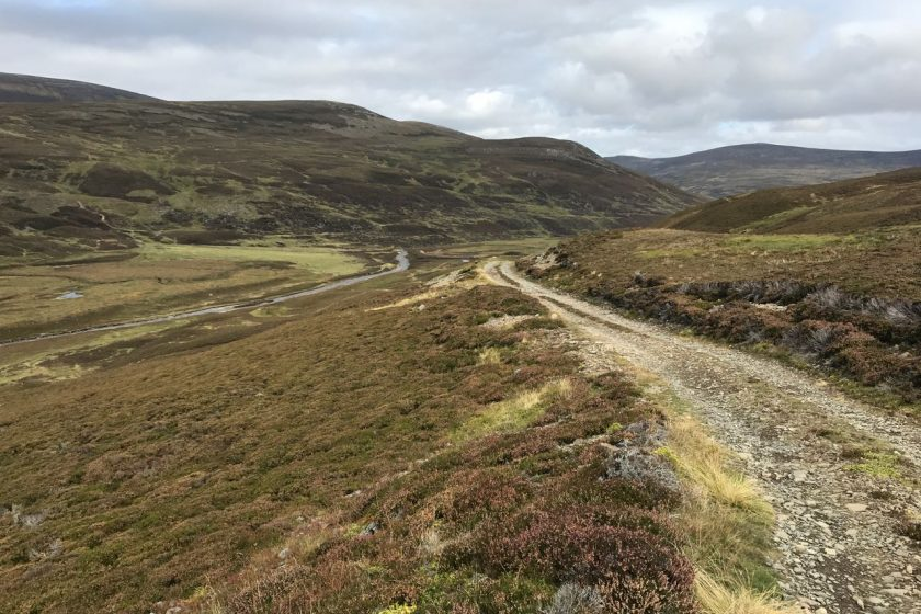 mountain bike trail in Cairngorms