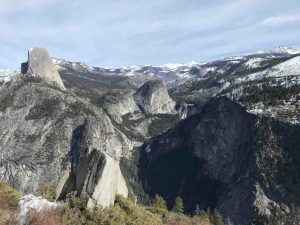 View from Glacier Point in Winter