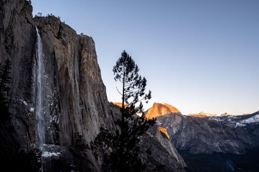 Yosemite Fall and the Half Dome