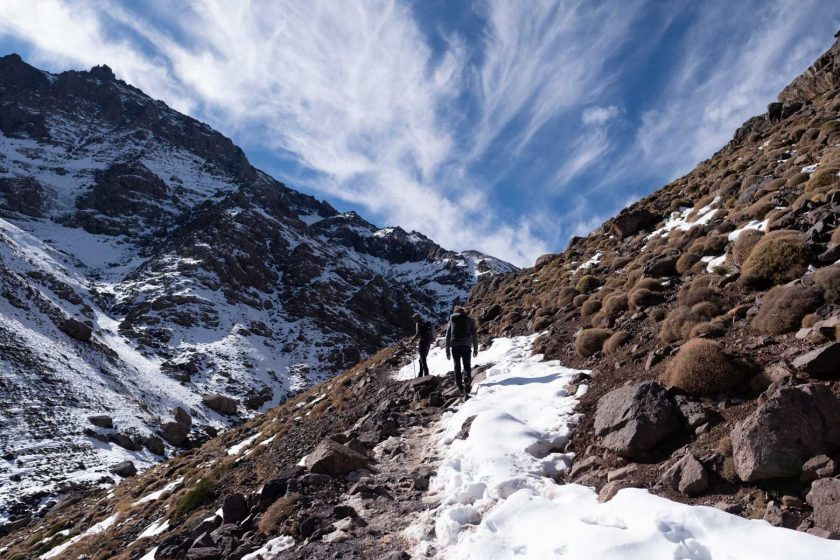 reaching the Toubkal refuge