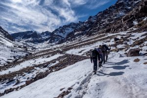 Approaching the Toubkal refuge
