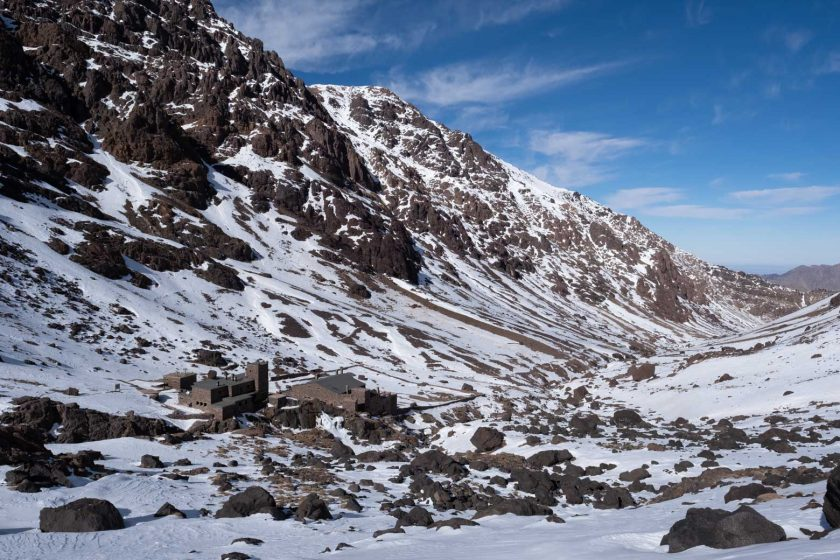 Toubkal mountain refuge