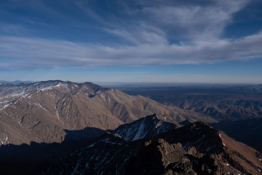 View from Mt Toubkal