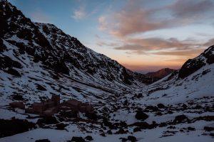 Toubkal Refuge after the sunset