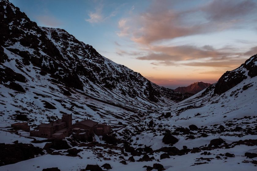 Toubkal Refuge after the sunset