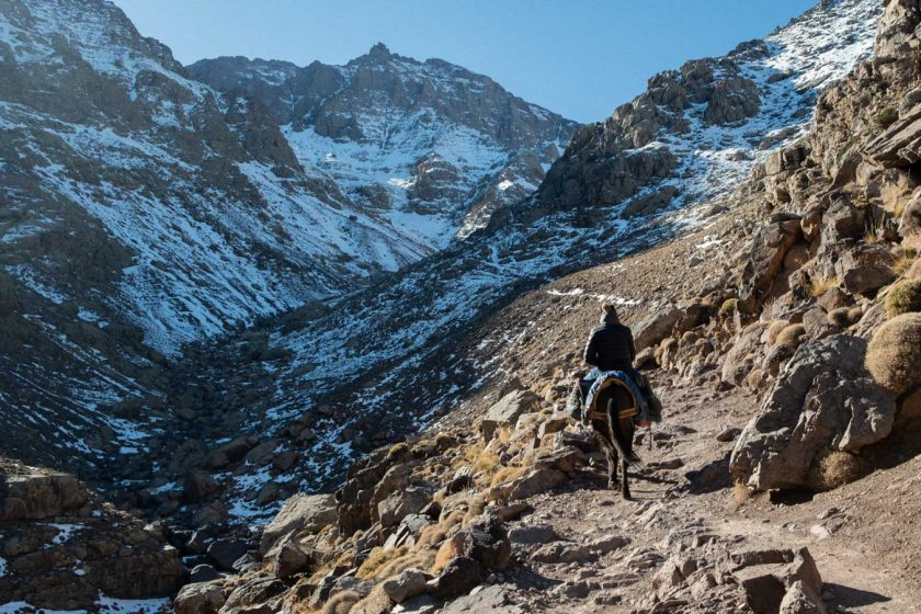 on the way to the Toubkal Refuge