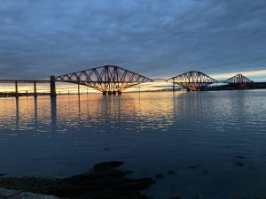 Forth Bridge at dusk