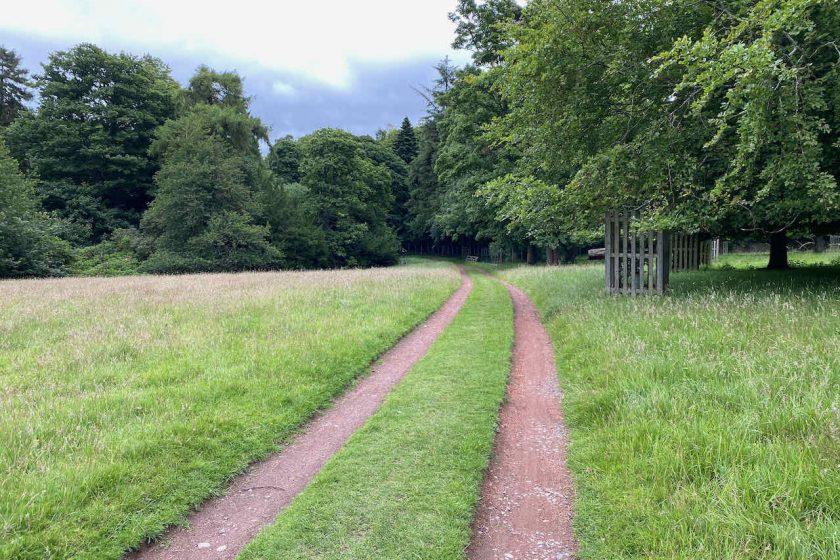 Dalmeny House's garden park