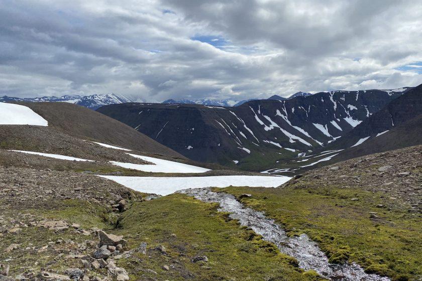 summer hiking in Tröllaskagi Peninsula