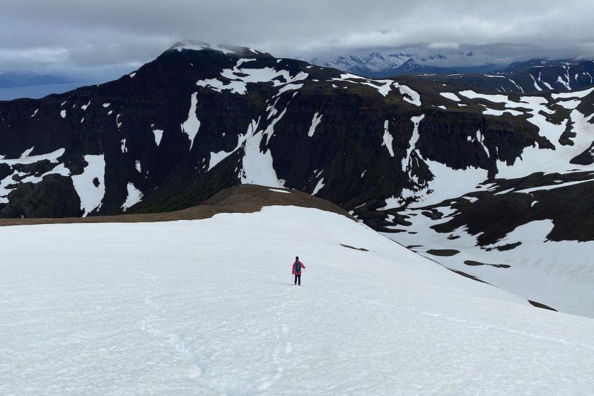 hiking Trollaskagi Peninsula